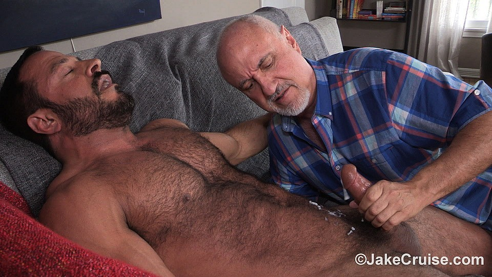 image Old man sucking younger mans cock gay sex