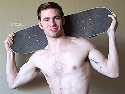 Naked Skateboarder James from Gay Hoopla