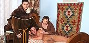 Monk Threeway Bare Ritual Sex from Raw Fuck