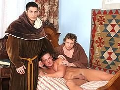 home - Monk Threeway Bare Ritual Sex from Raw Fuck