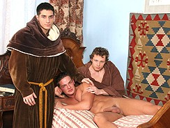 Monk Threeway Bare Ritual Sex from Raw Fuck