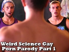Weird Science Gay Porn Parody from Super Gay Hero