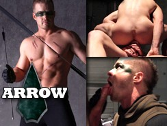 Green Arrow Gay Porn from Super Gay Hero