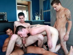 Orgy W Tyler, Ryan, Skyler, K from Broke Straight Boys