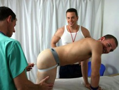 Gay Porn - Doc Coach And Cj from College Boy Physicals