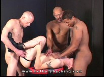 Interracial Gangbang from Hot Barebacking