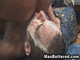 Gay Anal Rimming Cumshooter from Man Buttered