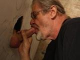 Grandpa Gumming a Cock