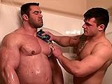 Bodybuilders In Shower