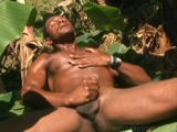 Roberto jerks his uncut cock from Hot Dark Studs