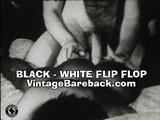 Black White Flip Flop