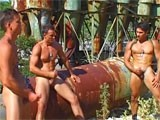 Muscle Hunks Masturbat