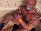 Gay Muscle Shower Bond