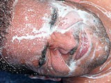 Big semen drops on his