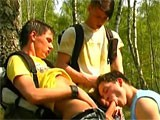 Three Boys Outdoors