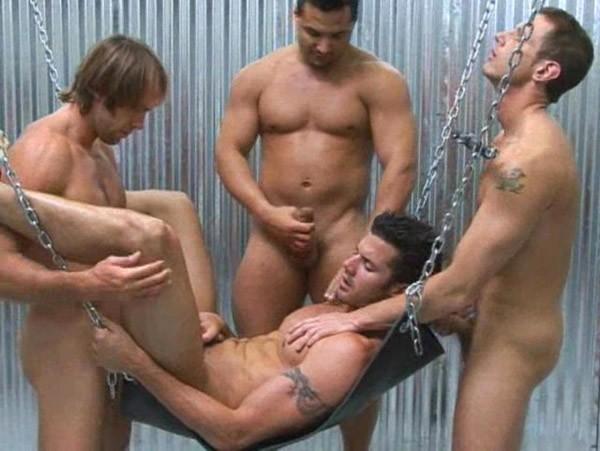 Randy blue sling orgy