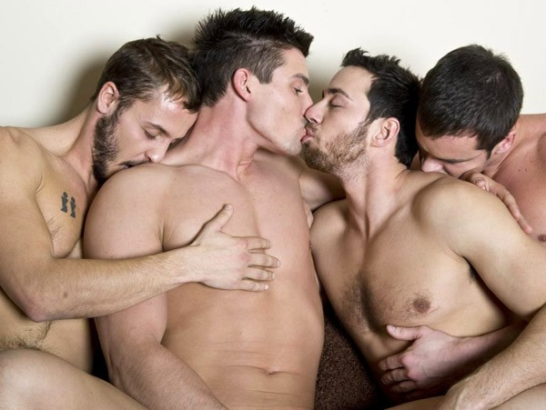Yummy Hot Boys Foursome Fuck