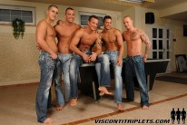 Hot Hunks Show Cocks from Visconti Triplets