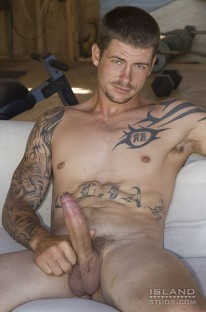 Mo Strokes His Uncut Dick from Island Studs