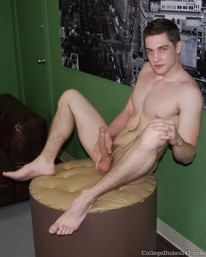Dexter Wanks On Huge Dick from College Dudes