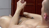 Ian Stroking Uncut Cock from Blake Mason