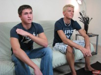 Logan And Jay Stroking from Broke Straight Boys