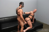 Leather Fantasy Fuck from Cocksure Men