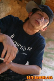 Smoking Punk Ian Madrox from Boys Smoking