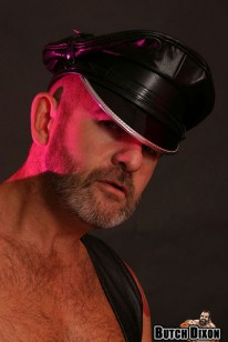 Leather Hunk Stroking from Butch Dixon