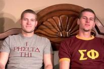 Frat Bros Jerk Off from Straight Fraternity