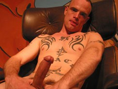 Tattooed Hunk Stroking from Dirty Boy Video