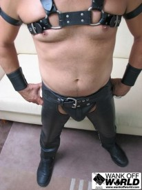 Lewis In Leather from Wank Off World