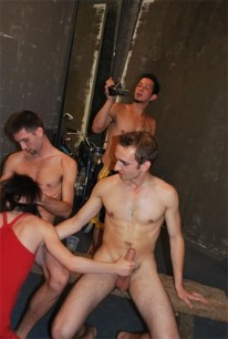 4guy Fuck Contest from Straight Boys Fucking