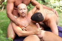 Outdoor Threeway Sex from Butch Dixon