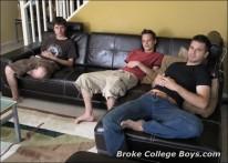College Boy Threeway from Broke College Boys