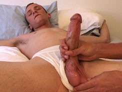 Stroking Jacob from Boy Gusher