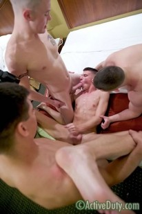 Amateur Hunk 4some from Active Duty