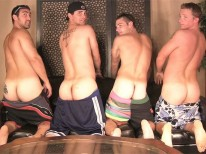 4 Man Circle Jerk from Straight Fraternity