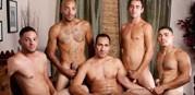 Latino Gang Bang from Hot Barebacking