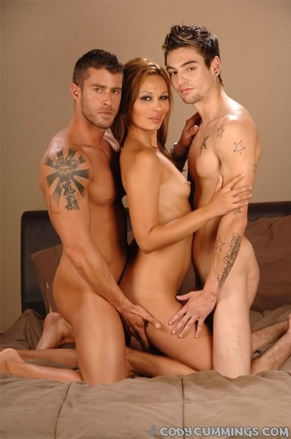 you think willing guys in tats hot threesome looking for someone whos