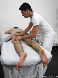 Massaging Keith from College Boy Physicals
