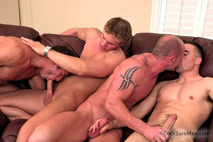 Cocksure men orgy