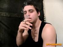 Cage Smoke Stroke from Boys Smoking