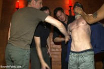 Horny Men Attack from Bound In Public