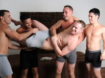 Daxs 5way Orgy from Straight Fraternity