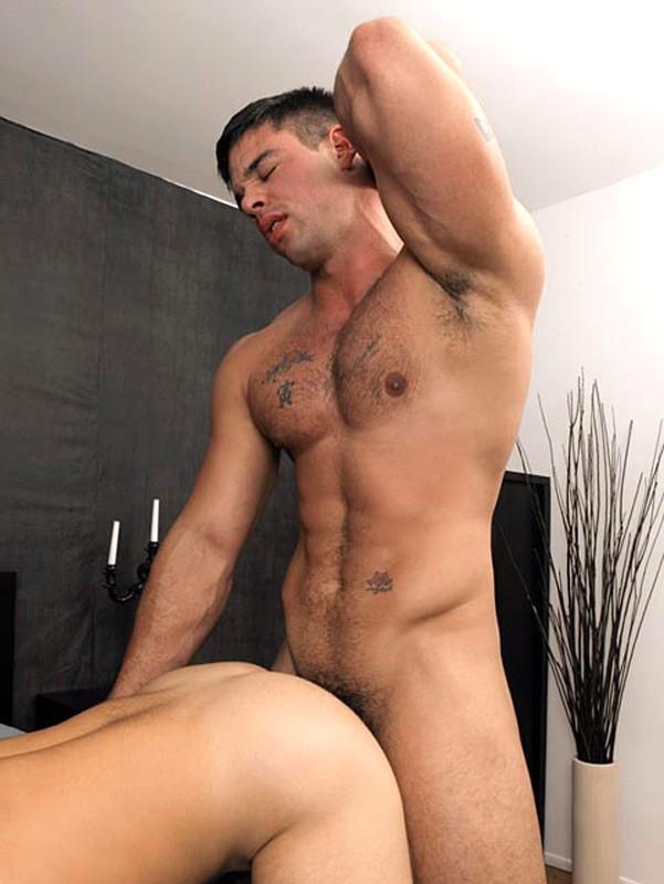 Randy gay trio sucking ass fucking