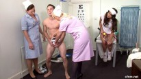 Sportsman Shame from Clothed Female Nude Male