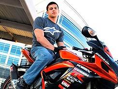 Neil Naked Motorcycle Rid from Frat Men