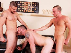 Morgan Dominic And Steve from Cocksure Men