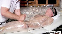 Blindfolded And Mummified from Boynapped